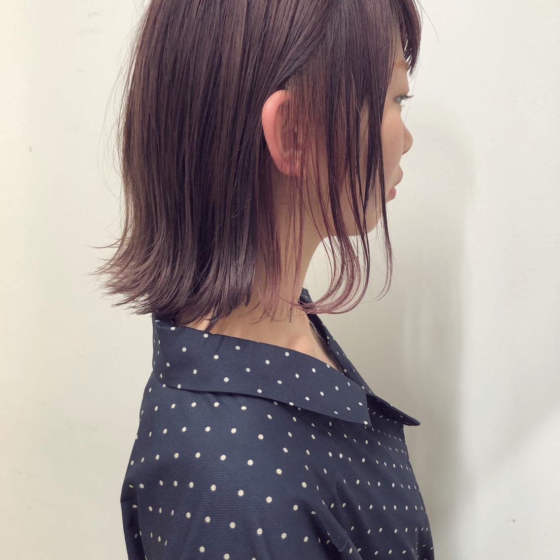 #ショート #カラー #パーマ #ヘアアレンジ 【パープルグレージュ×インナーカラー】  Instagramにもヘアスタイル載せてますので是非♪♪ ⬇︎⬇︎ yuuki_matsui_