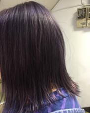 ラベンダーパープルを濃いめに色落ちも楽しみです hair studio menos所属・黒岩葉のスタイル