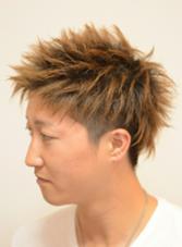 メンズ大人気のスパイキーショート! Hair&Make YAMAGUCHI  toushel所属・瀧下裕司のスタイル
