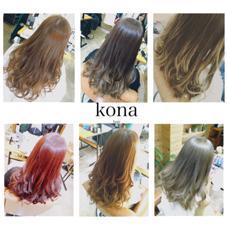 カラーの色味のバリエーションも様々あります♪ Kona大名所属・外国人風といえば、ハナオカ キョウスケのスタイル