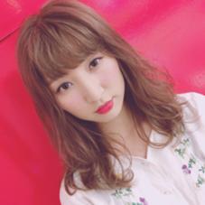 cute girl❤️  #ゆるふわ#女の子#赤リップ frais所属・佐藤綾菜のスタイル