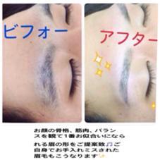 こんな感じです(^^) men's eyebrowsalon 〜vivi〜所属・松本佑子のスタイル