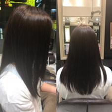 赤みを消した8トーンのアッシュ 根元が伸びていたので、毛先と色を変えて、 統一感のあるアッシュカラーに!! miq所属・瀬谷凌のスタイル