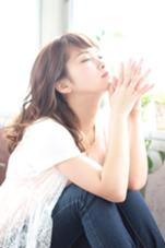 ゆるふわミディ。透け感のあるカラーが良く似合います! アトリエMAI北千住店所属・江角龍のスタイル