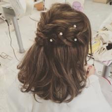 ミディアムボブ × ゆる編み込み ❤︎ HAIR&MAKE    J-GENIC所属・柏木奈那子のスタイル