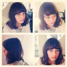 ワイドバングがかわいいボブスタイル ✂︎カットパーマ・・・¥5000 em  hair所属・大葉ヒトミのスタイル