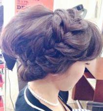 編み込みアップスタイル cham cello Hair 所属・アライユウコのスタイル