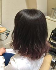 パープルのグラデーション⋆。˚✩ Octo. hair所属・中島舞美のスタイル