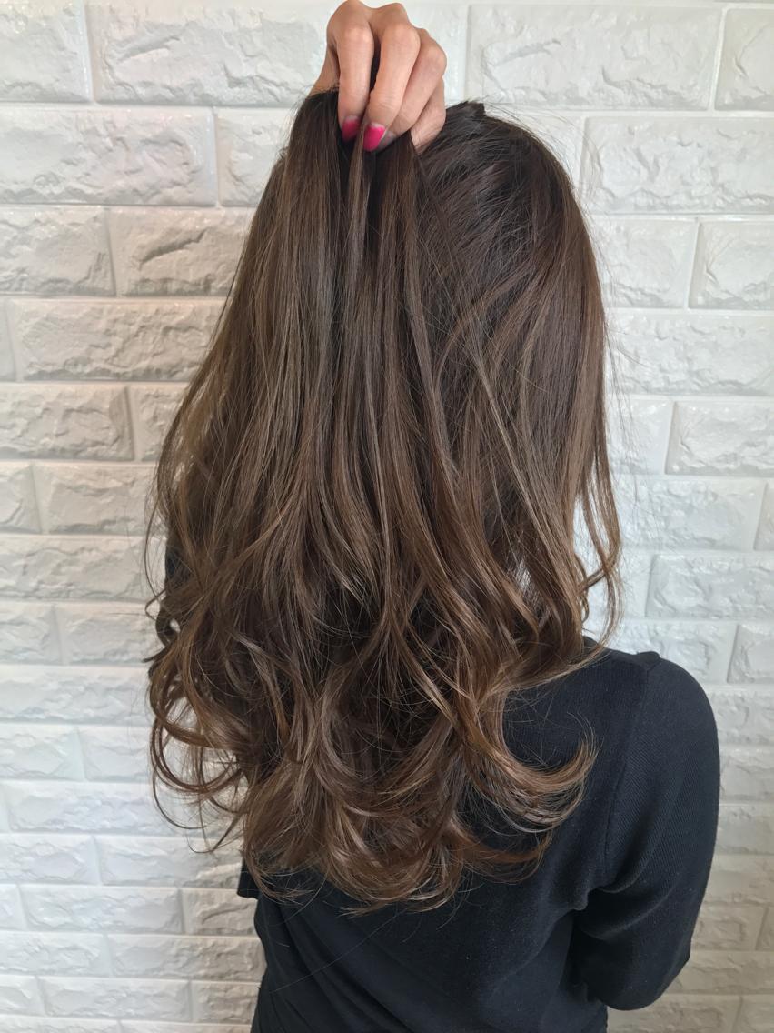 グレージュ ローライトカラー Nyny 桂店所属 松岡たいしのヘア