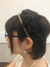 結婚式の二次会 ヘアアレンジ K:R鶴川所属・江連万美子 えづれまみこのスタイル