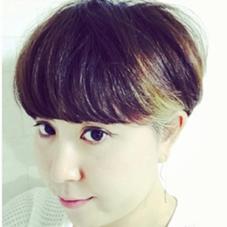 マッシュ風耳かけショート Hair Make nico所属・西谷美穂のスタイル
