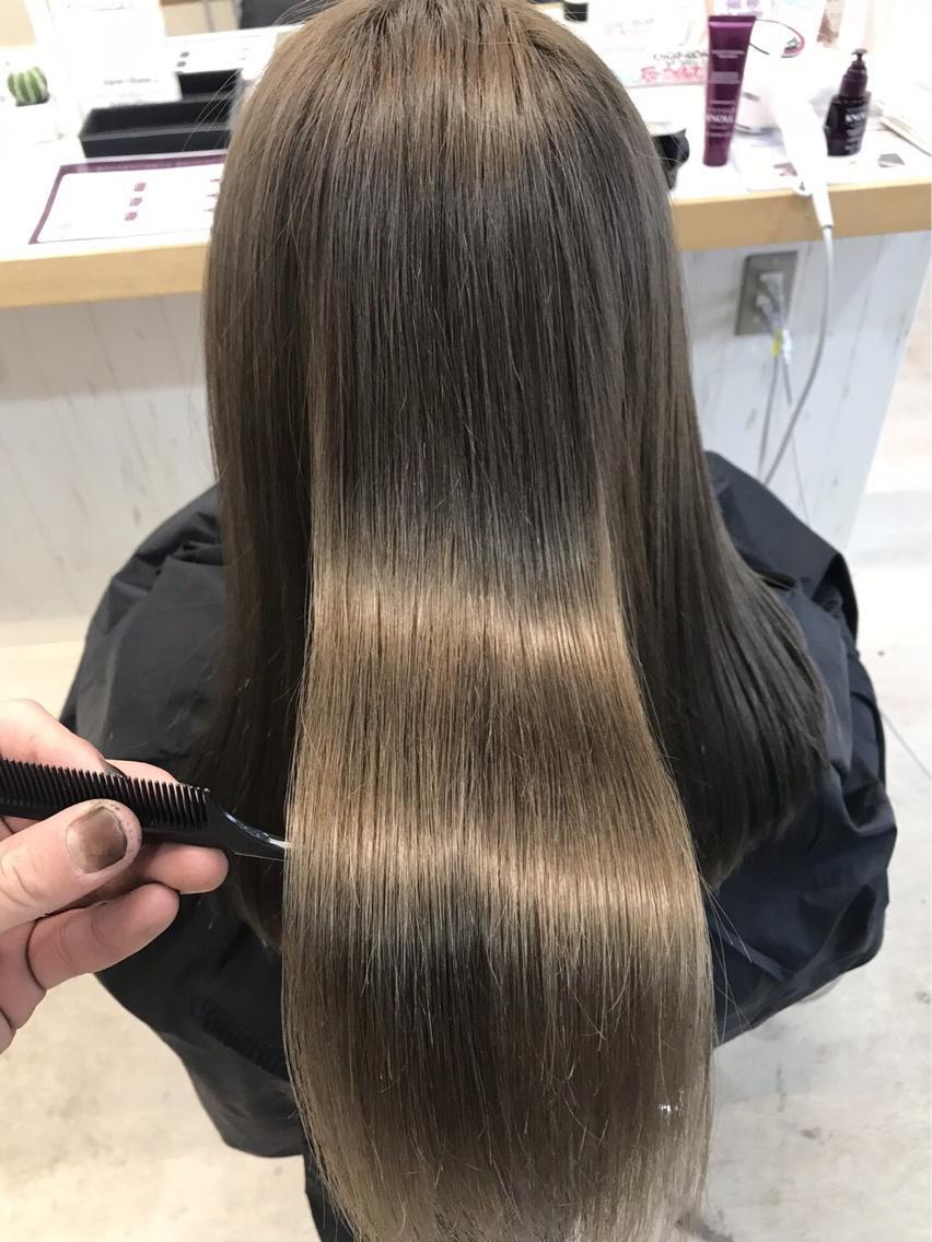 #ロング #カラー 🌈最高のtokioトリートメント🌈 & 🌈髪質改善キュアストレート🌈