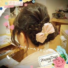 結婚式のヘアセット♪ ヘアアクセがあると、より素敵になります☆ ALTIINTERNATIONAL所属・平山昌代のスタイル