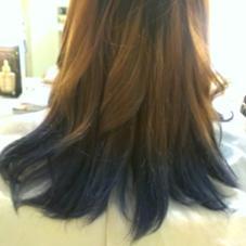 ディープブルーアッシュ Hairsalon 7{Na-na}所属・ayumiのスタイル