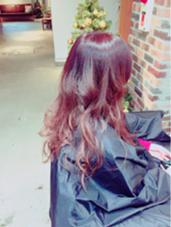 バイオレットベージュのグラデーション MARIO HAIR DESIGN所属・杉本雄志のスタイル