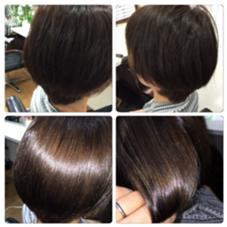 乾かすだけでトリートメント効果でサラサラツヤツヤになります。 charm hair resort所属・charmhairのスタイル