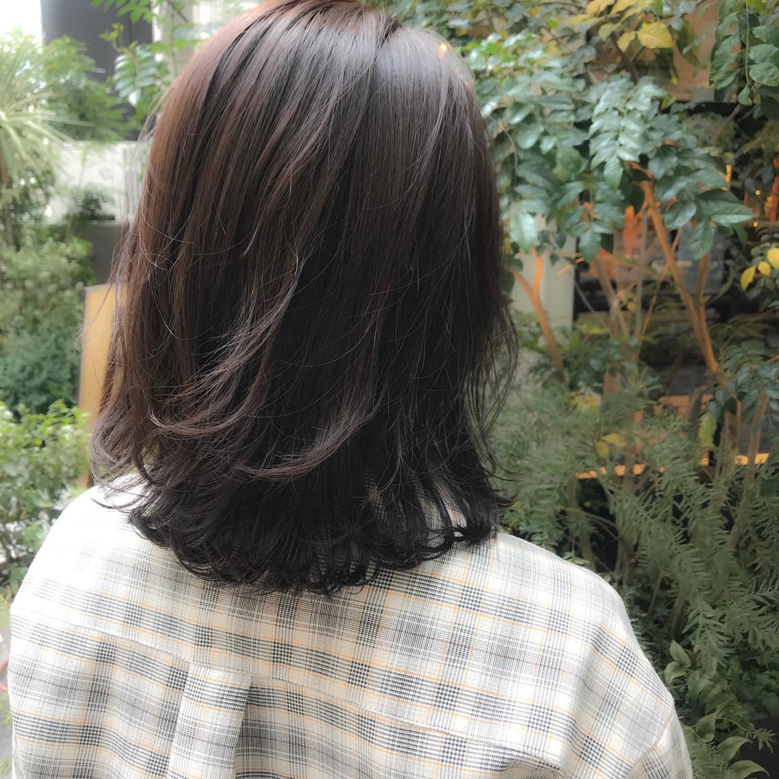 #ミディアム 本日のお客様♪透け感ラベンダー