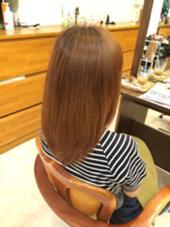 夏に向けてのトーンアップ オレンジカラー Freez川西店所属・狭間裕美のスタイル