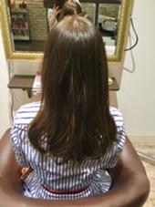 赤みの出やすい髪の毛を綺麗なマットアッシュ(^^)★☆ 透明感が出て明るめカラーに Queen'sBerry所属・難波雛のスタイル