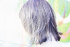 ハイライト入れたあとにviolet×greyをonカラー( ´∀`) AUBE三鷹店所属・川田智大のスタイル