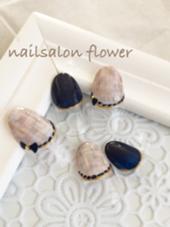 ツィードネイル♡ネイビー nailsalon   flower所属・nail salonflowerのフォト