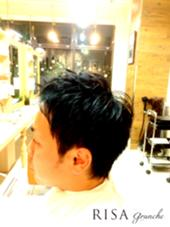 メンズショート 頭の形がよく見えるカット  WAX仕上げ  kazuカット RISA hair design所属・内瀬戸雄将のスタイル