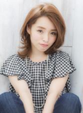 レイヤードミディ×チェスナットブラウン☆ COIFF1RST原宿所属・COIFF1RST原宿のスタイル