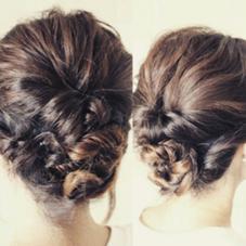 結んで、くるりんぱしてから崩して簡単まとめ髪❗ AIR BERRY所属・永井  大基AIR BERRYのスタイル