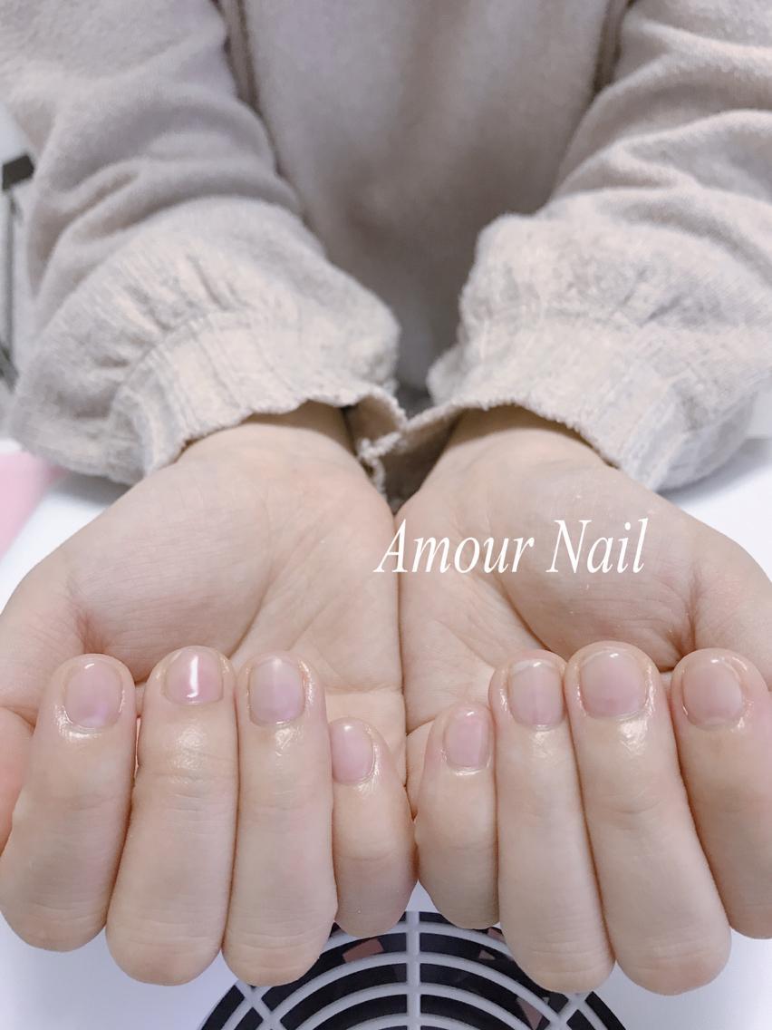 お客様ネイル♪♪ クリアジェルにマットコート(^,^)|Amour Nail