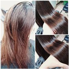 特許技術を用いてのカラーリング ツヤツヤになりますよねヽ(*´∀`)ノ VIPDIMENSION+cheveu所属・井上奨のスタイル