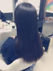 デジタルパーマをストレートにしました!! 髪の状態にもよりますが、ここまで綺麗にできますよ〜(^O^)/ hair make Ash所属・佐藤光輝のスタイル