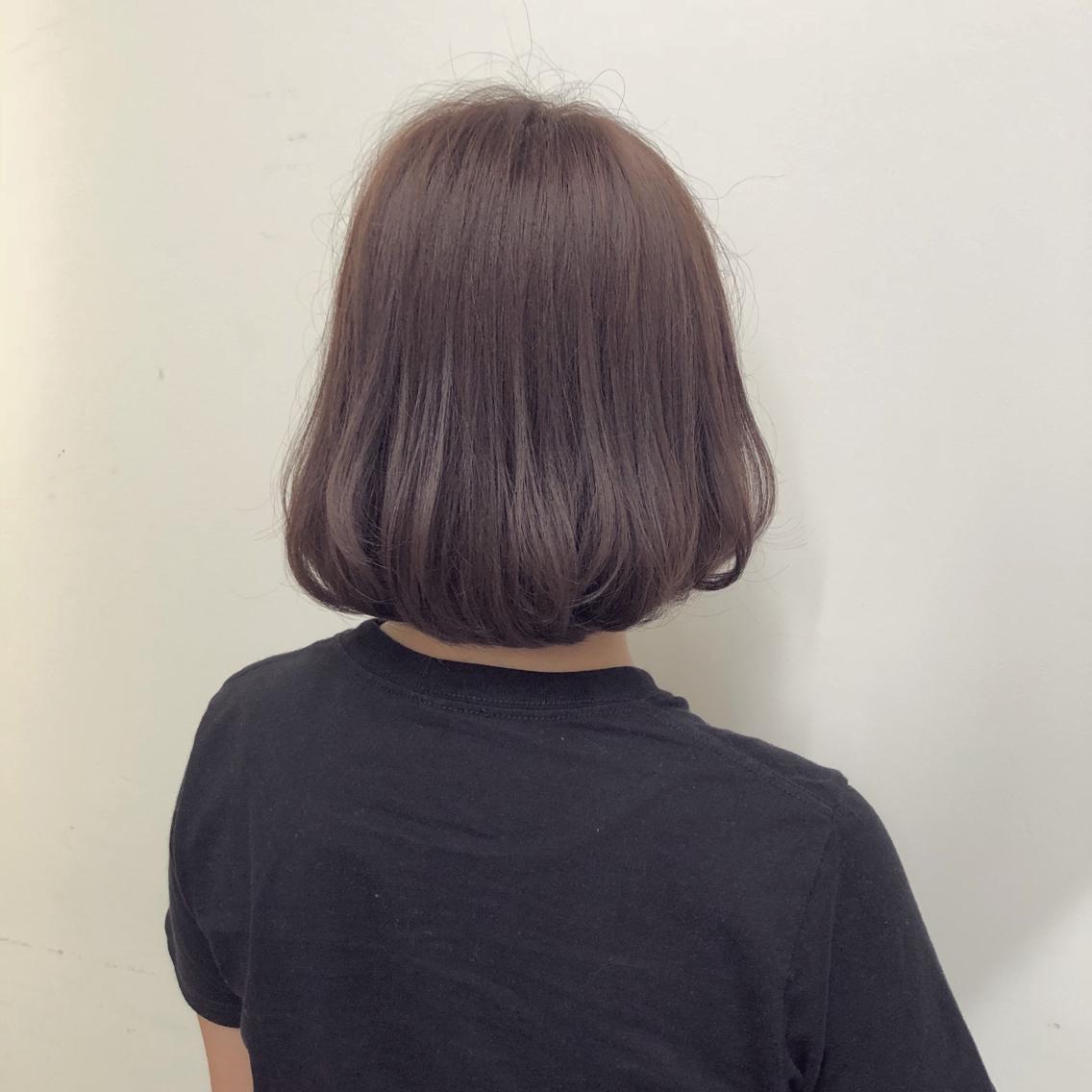 #ショート #カラー #パーマ #ヘアアレンジ 【パープルグレージュ】  Instagramにもヘアスタイル載せてますので是非♪♪ ⬇︎⬇︎ yuuki_matsui_