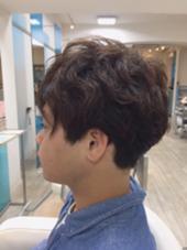 メンズカット ✂︎  くせを活かしてパーマ風に..* 森田望のメンズヘアスタイル・髪型