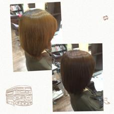 黄色く退色してしまった髪の毛にベージュとピンクを入れることで深みのあるピンクブラウンへ!!  春にぴったりのピンク。 是非一度お試し下さい(^-^)/ beauty and care CALON所属・松田力のスタイル