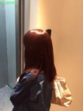 ピンクブラウン✨ キレイな色です^ ^ AUBE HAIR 上野店所属・福間友人のスタイル