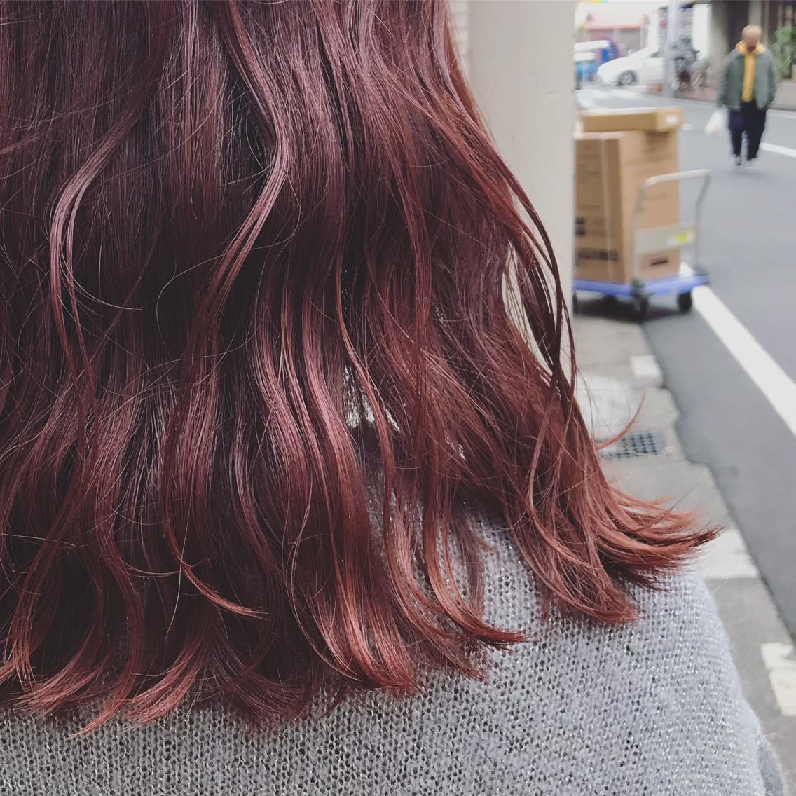 #カラー 絶妙な配合で、やりすぎず、でもしっかり発色する赤髪 🥀