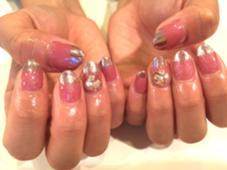 ミラーネイルフレンチ♡♡ trico nail&SPA梅田茶屋町店所属・吉元麻奈美のフォト