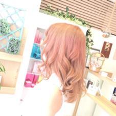 peachpink♡ パステルなピンク系カラー MusebyKENJE所属・阿部佑香のスタイル