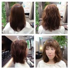 ☆クリープパーマ☆  柔らかい髪の毛でもしっかりあたります(^^)♪ このパーマでふわふわ女子に(*´˘`*)♡ ハピネスCLOVER八木所属・大崎環のスタイル