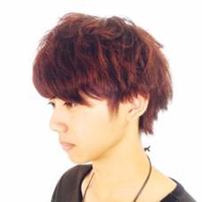 [ディープレッド] マニキュアを使わないで手軽に個性的な赤髪へ★  LUCK所属・佐々木翼のスタイル