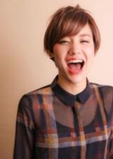 女の子らしいショートです! 谷崎真梨絵のスタイル