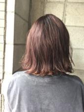 グレーナチュラルピンク  ブリーチは必須です  フリーランス所属・Matsumotoshogoのスタイル