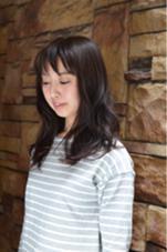 ツヤっぽさが印象的なロングミディアムロングスタイル!ジェル仕上げでカッコ可愛く仕上げました! aglaia所属・小西麻奈美のスタイル