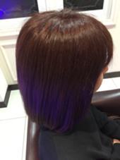 紫とブラウンを少し混ぜて主張しすぎない赤色を目指しました。 La   ciel所属・岩船祐介のスタイル