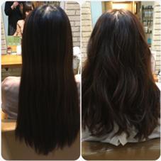 カットカラーで春らしく♡ 重かった髪をばっさり!10センチ以上カット!黒染めの髪をほんのりトーンアップ♡ラ 倉本有彩のスタイル