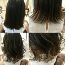 髪がロングじゃなくたって!!! グラデーションはかわいくできます。  今時の切りっぱなしに外はねウェット仕上げ AUBE hair shine所属・藤原末唯のスタイル