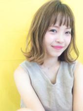ロブ☆ハイライトカラー CortebyLittle所属・佐藤真由奈のスタイル