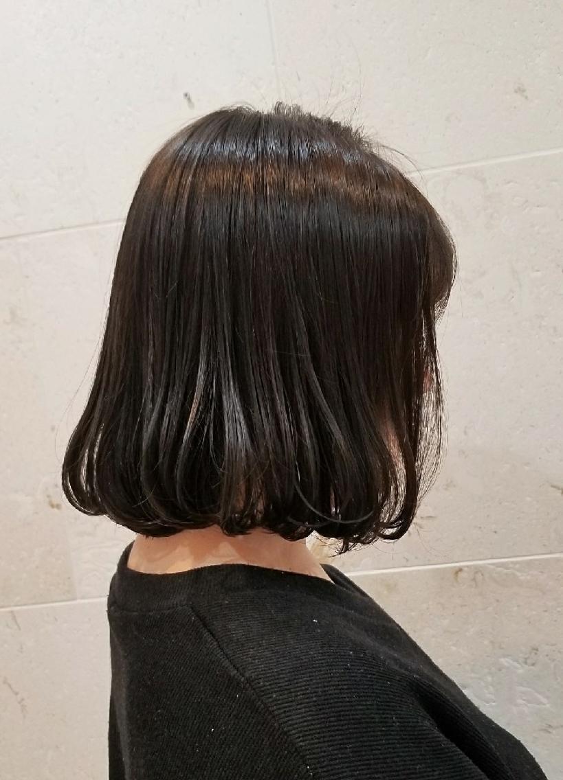 #ショート #カラー «大人のうる艶髪💕» ダークグレージュ🖤