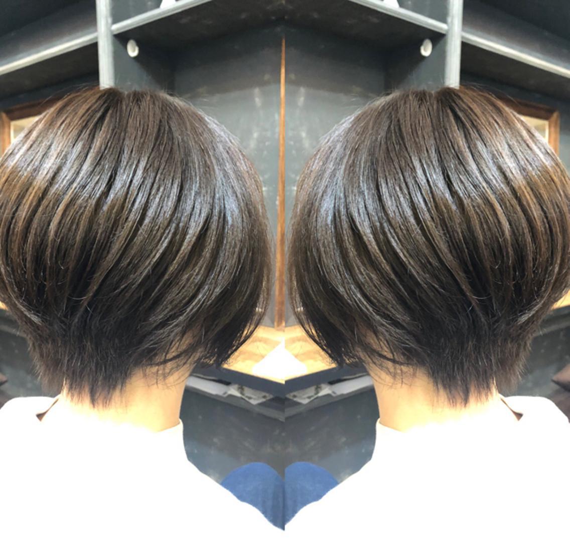 ❤️ショートスタイルお任せあれ❤️N.カラー使用で透明感のあるカラー⭐️お客様の普段のライフスタイル重視の提案をしています!くせ毛の方はコスメストレートで自然な仕上がりに致します❣️
