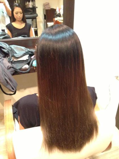 ストレートトリートメント Hair Resort LIFE所属・飯塚章晃のスタイル